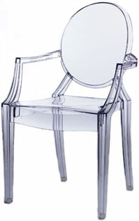Sedia Louis Ghost kartell design by philippe starck | Lusso e Design ...